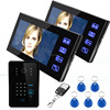 "Alarm system PHOTO & VEDIO memory 7""tft-lcd color apartment intercom system digital video doorphone"