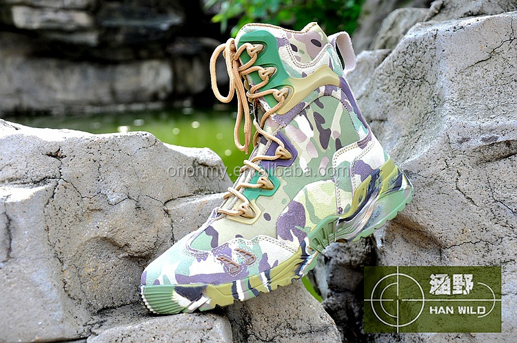 camouflage leather combat military camouflage boots Delta tactical boots shoes manufacturer