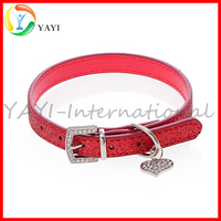 Hot Bling Crystal Leather Puppy Cat Necklace Collar