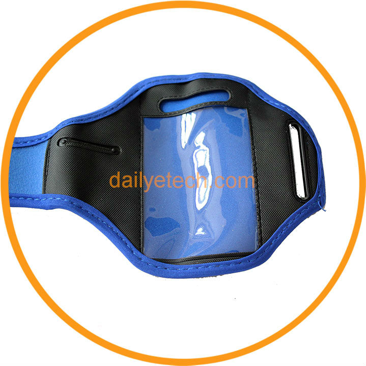 High Quality Sports Gym Running Waterproof Armband Phone Case Holder Cover for iPhone4 4S Blue from Dailyetech