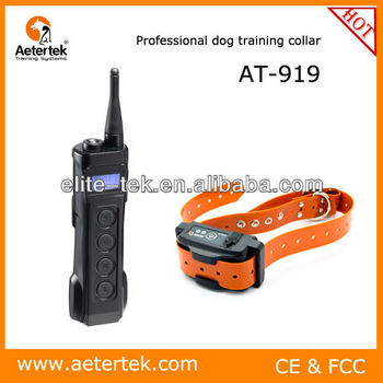 Aetertek name brand AT-919 Electric shock vibration beep auto anti-bark collar 1000meter range