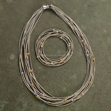 Stainless steel main material piano wire necklace