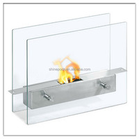 Stainless Steel Table Standing Fireplace