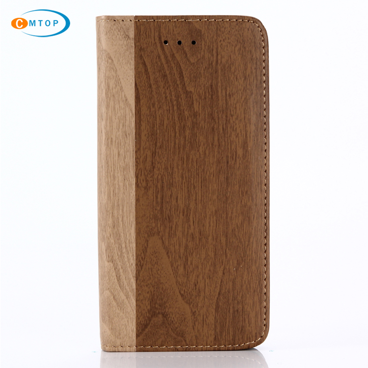 4 Colors Splicing Colour Full Covers Wood Grain Smooth Leather Case for iPhone X