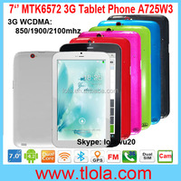 OEM 7 inch 3G Tablet with MTK6572 Dual Core Android 4.2 512RAM 8GB HDD GPS Bluetooth FM Radio