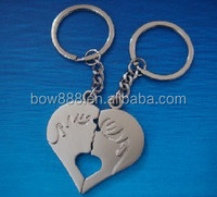 2015 wenzhou new design engraved alloy keychain for lover keychain