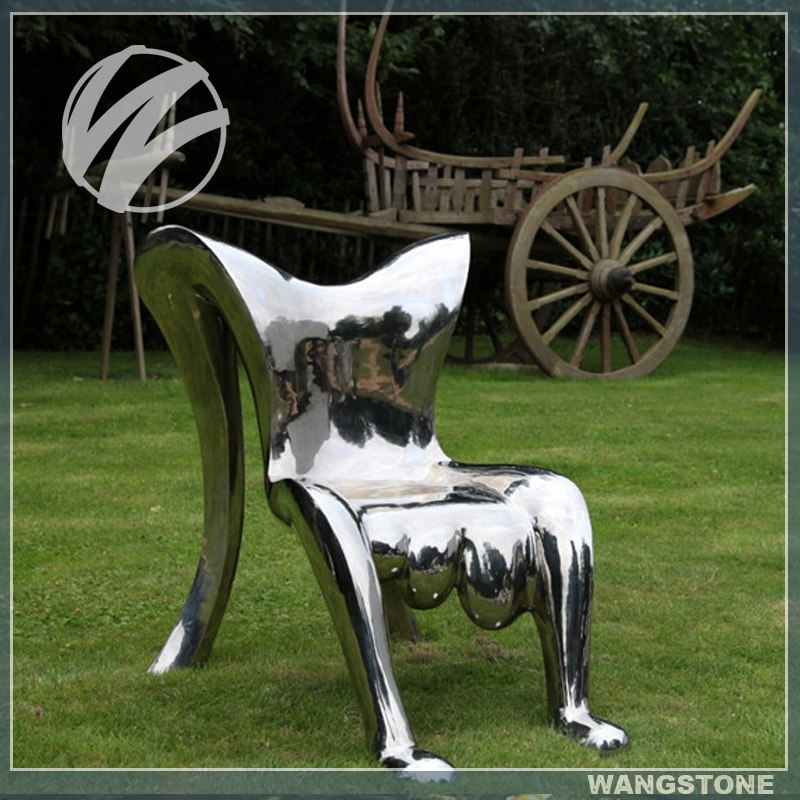 Practical Stainless Steel Human Body Shape Chair Sculpture