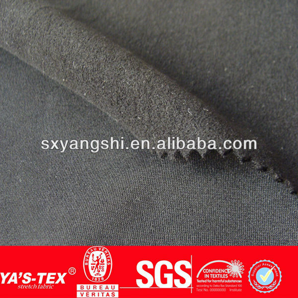 Polyester spandex one side brushed fleece fabric