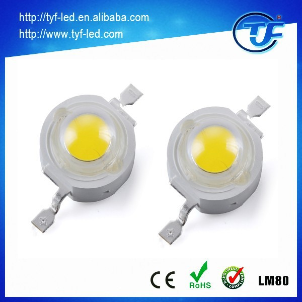 LM80 High Lumen Bridgelux 45mil chip 1w 3w High Power LED