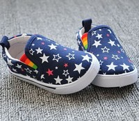 W90955A 2015 hot sell korea style five-pointed star soft kids canvas shoes