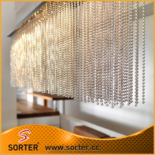 silver beaded curtains/hanging room divider/beads door curtain