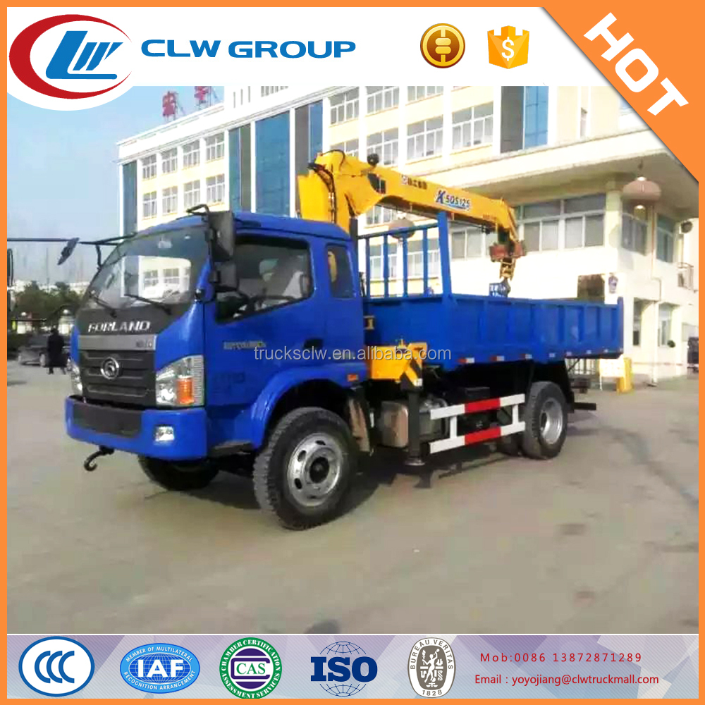 Foton 5 Tons truck with crane for construction use