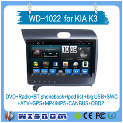 2016 car navigation entertainment system FOR KIA K3 car dvd android 2 din touch screen CAR GPS PLAYER with swc bluetooth