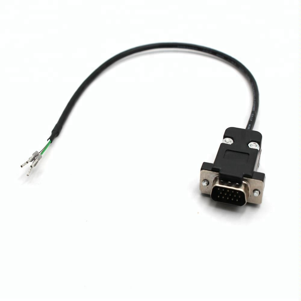 Cable Assembly RS-232 Panel Mounting connector with cover to Crimp End