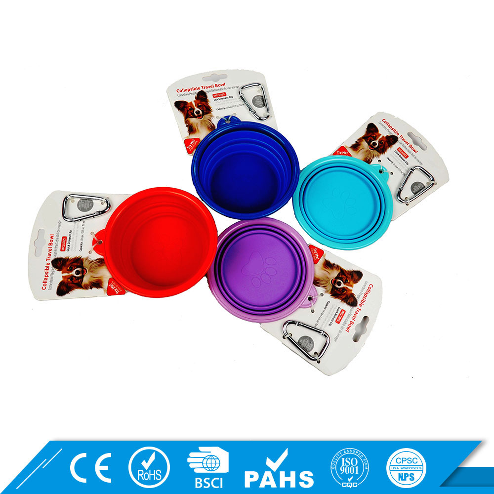 Customised dogs Eco-friendly PP purple pet food bowl