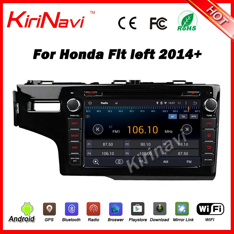 Kirinavi WC-HF8039L android 5.1 2 din car navigation for honda fit 2014 2015 2016 2017 radio gps touch screen car dvd player