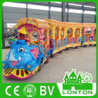 Hot Elephant Train Electric Track & Trackless Train Indoor Play Centre Equipment For Sale