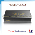 2017 New Arrival amlogic s905 Quad core android 5.1 tv box meelo uno2 with DVB-S2+DVB-T2 twin tuner receiver