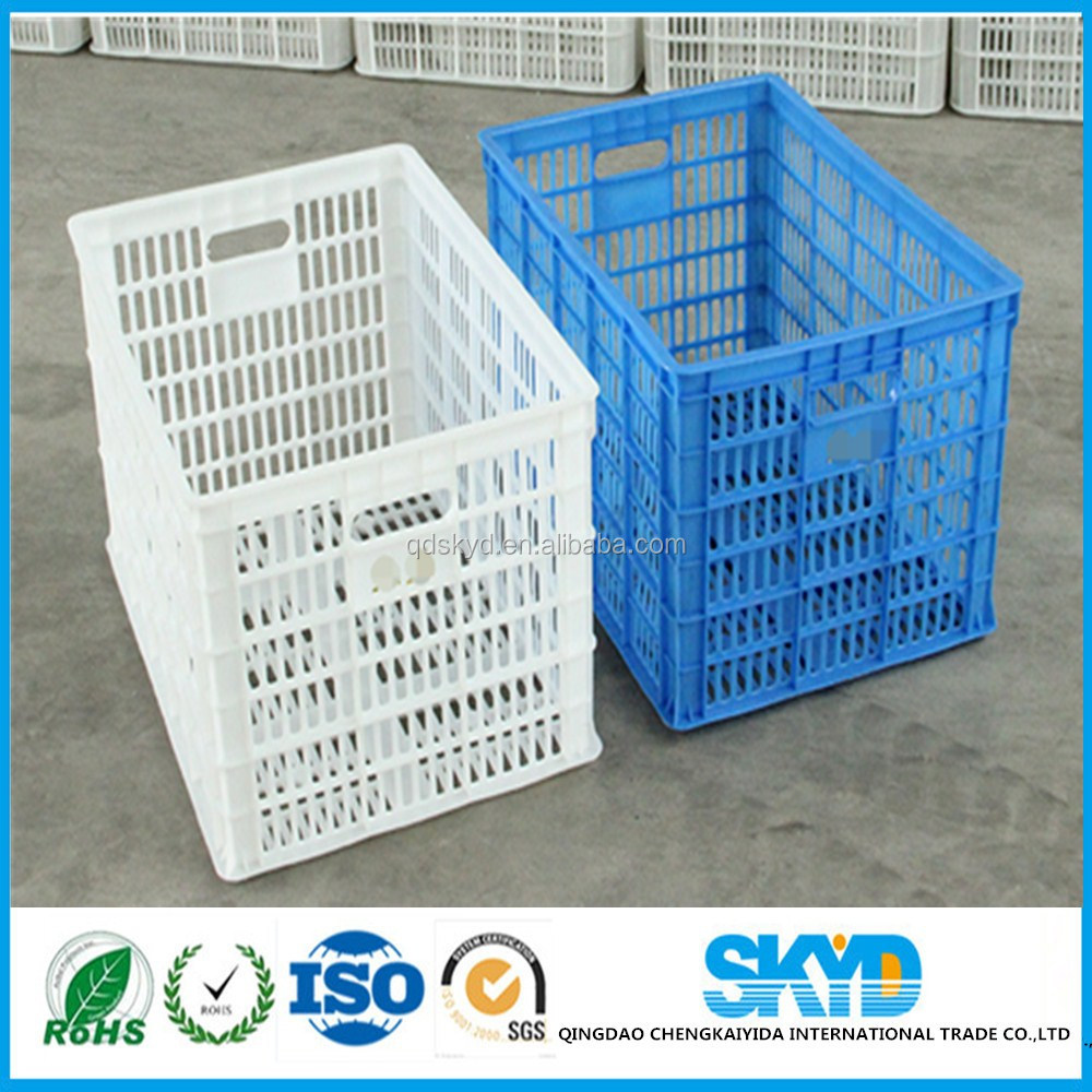 injection molding plastic crate agricultural with ventilation