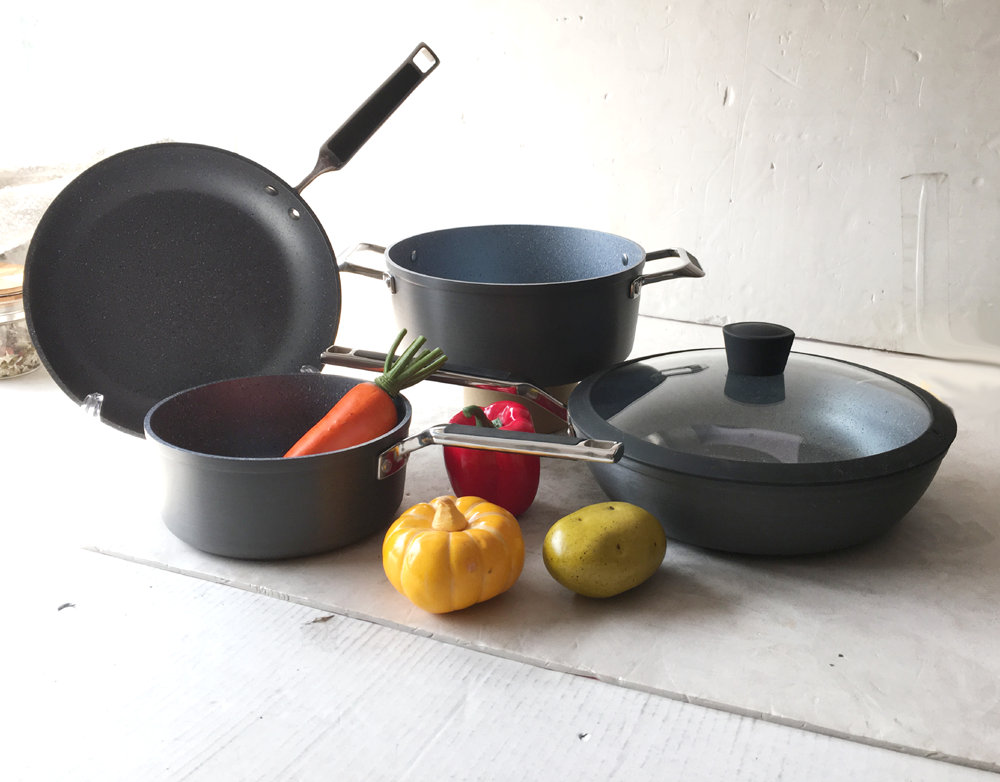 Hard Anodized Aluminium marble stone non-stick coating cookware set