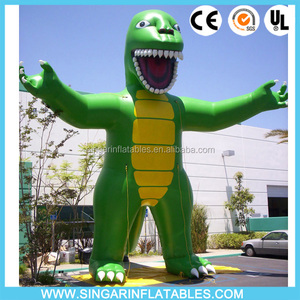 Customized advertising inflatable sea dragon, chinese dragon balloon, green inflatable dragon