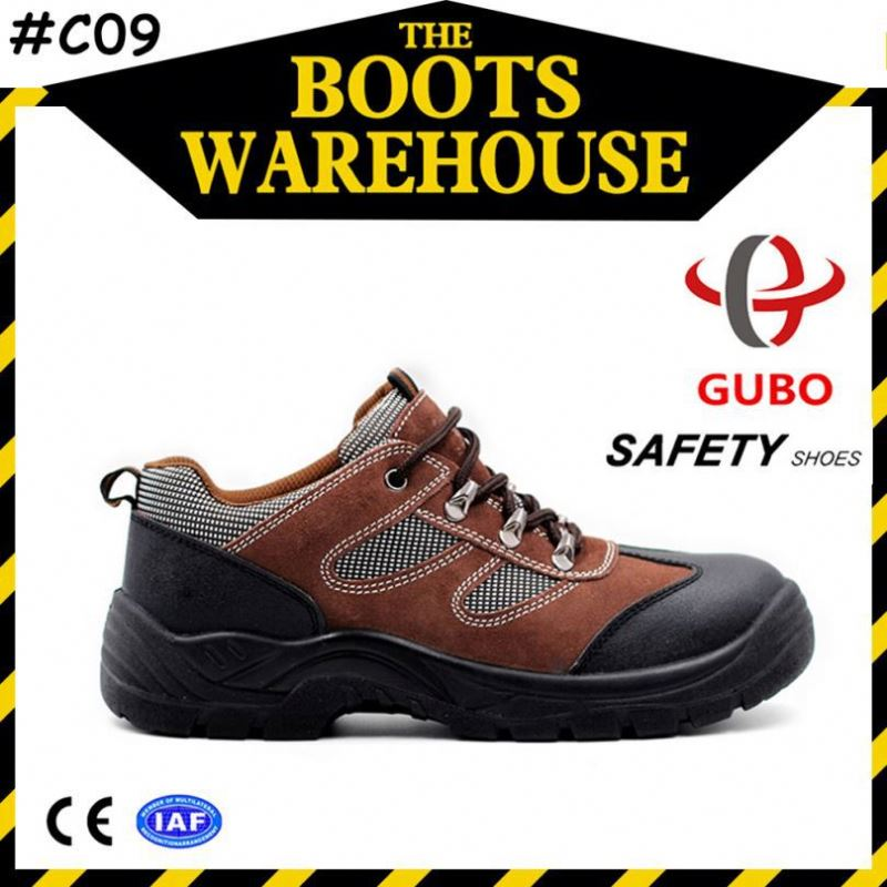 embossed leather water resistant ladies high heel safety shoes in stock
