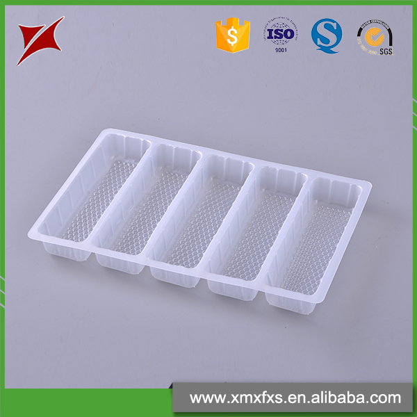 Chinese style PP frozen compartment disposable food tray