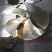 5 blade marine fixed pitch commercial boat propeller
