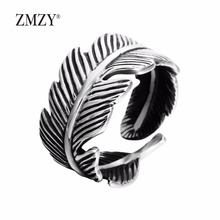 ZMZY brand american fashion spikes men stainless steel rings