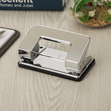 Chrome custom paper hole punch metal 8mm logo