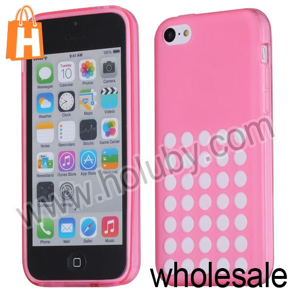 New Product for Apple iPhone 5C Case,Hollow Out Hole Design Soft TPU Cover Mobile Phone Case for iPhone 5C