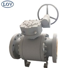 10 Inch Double Flange Three Pieces WCB Trunnion Handwheel Operated Ball Valve