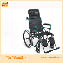 Movable armrest reclining back wheelchair