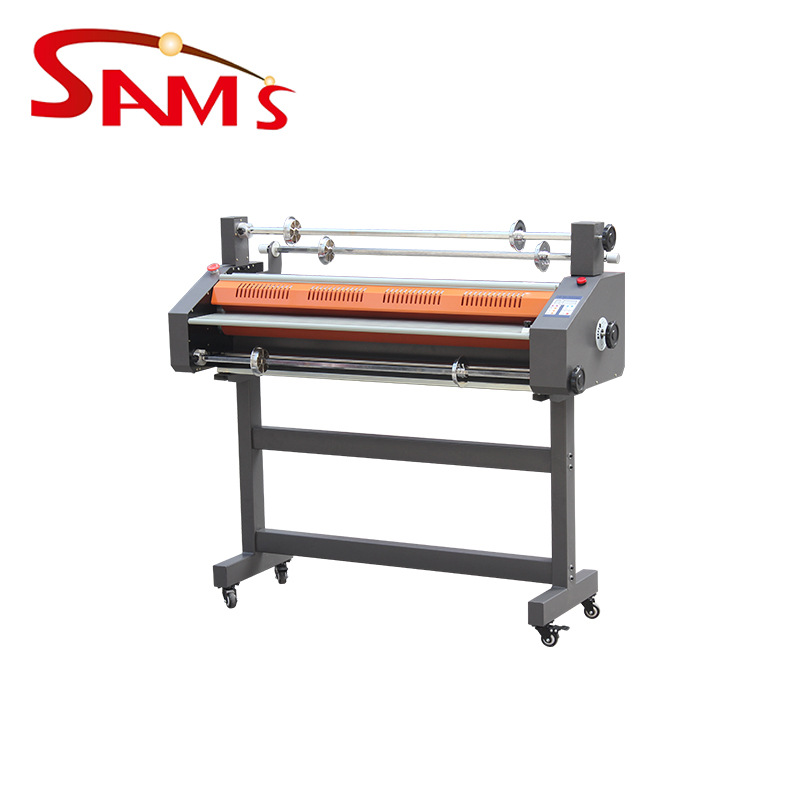 graphic design printing center New products 360af auto-feed roll laminator cold and hot auto slitting roller laminator machine