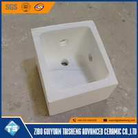 high density aluminum silicate ceramic filter box to transport molten aluminum