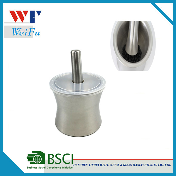 Cheap Stainless steel Mortar and Pestle with plastic lid