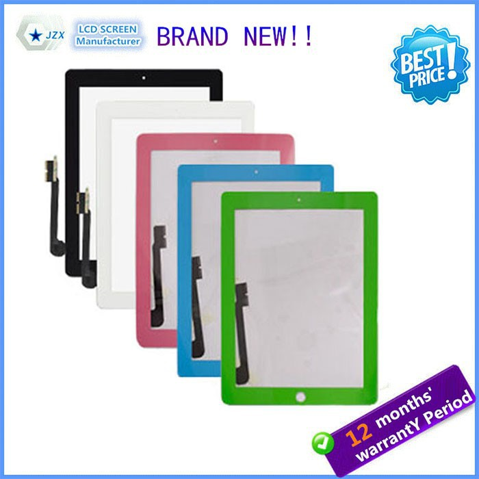 High quality Cheap Factory price for iPad 4 3 Digitizer with Home button,Adhensive,