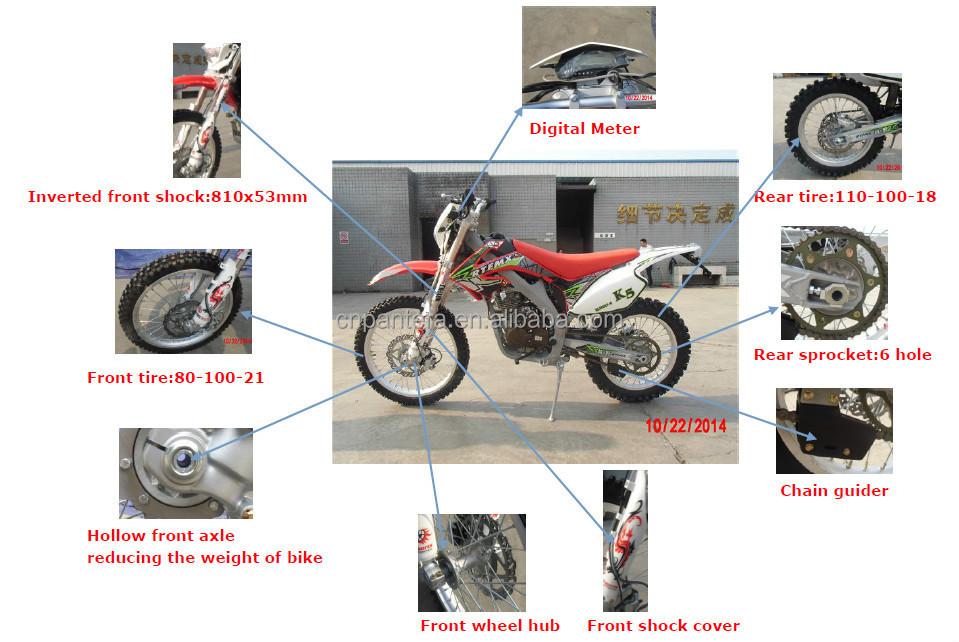 250cc CB Engine 4 Stroke Dirt Bike Off Road Motorcycles For Cheap Sale