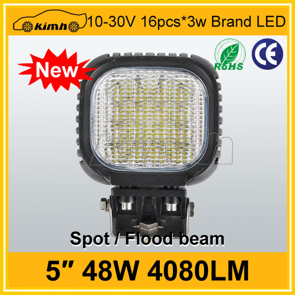 High power 4080LM 4x4 off road light 48w work light