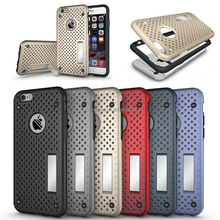 For coque iPhone 6 Cases Premium TPU+PC Hybrid Slim Net Stand Back Cover Phone Case For iPhoen 6S Cover Fundas 2016 New