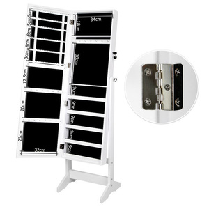 Wholesale Cheap Rings MDF Mirror Jewellery Cabinet In White