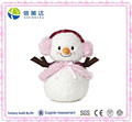 Winter Hand Up Plush Snowlady Doll with Earmuff Christmas Gift