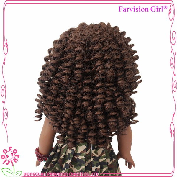 Stylished African 18 inch American Girl 18 inch wholesale black dolls