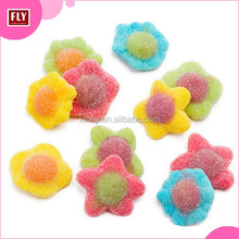 Chewy Heath Food Colorful Flower Shape Gummy Candy and sweets