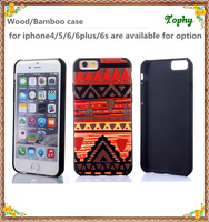 Factory Supply Popular sublimation plastic phone cover wood colorful printing image case for iphone 6,6 puls