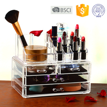 Creative gift Pretty Acrylic Clear Make up organizer with 4 drawers for Memorial Day and all feasts