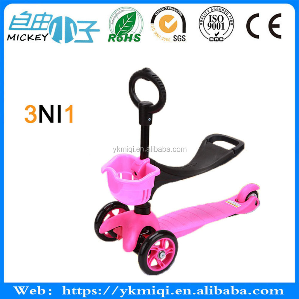 High <strong>3</strong> in 1 scooter with T-bar for <strong>O</strong>-bar <strong>3</strong> in 1 kick scooter