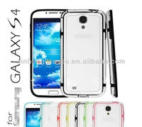 Ultra Hybrid Middle Transparent TPU Bumper Case for Samsung Galaxy S4 IV i9500