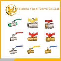 full bore brass ball valve with chromic surface