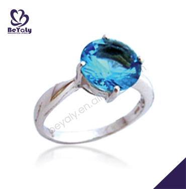 customized available wholesale silver women rings sapphire